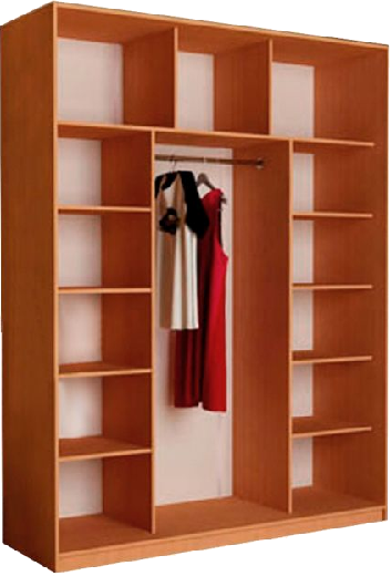 Наполнение 3-дверного шкафа (тип 3, вариант 1)