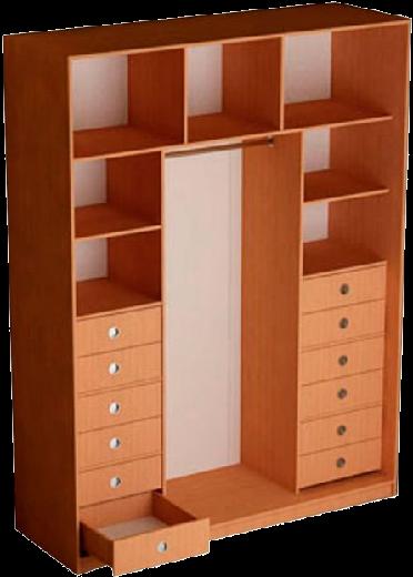 Наполнение 3-дверного шкафа (тип 3, вариант 3)