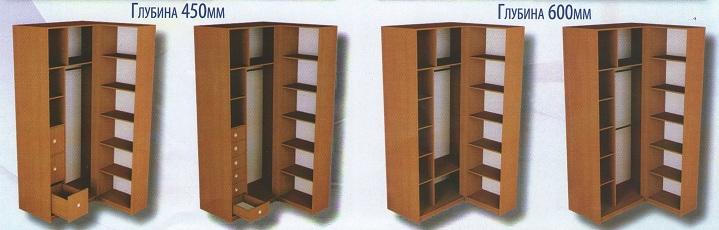 Угловые шкафы-купе: наполнение