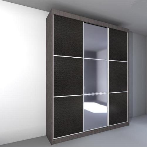 Шкаф-купе 3 двери: ЛДСП + зеркало