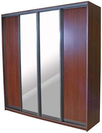Шкаф 4 двери:  зеркало + ЛДСП
