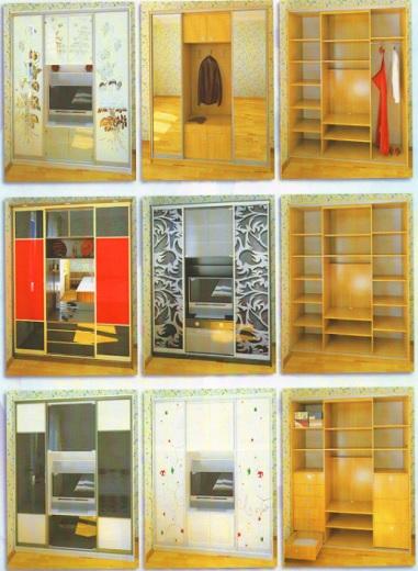 Шкафы-купе с нишей (полкой для ТВ): наполнение