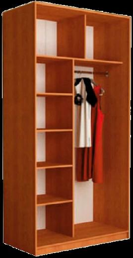 Наполнение недорогого шкафа-купе (тип 1, вариант 2)
