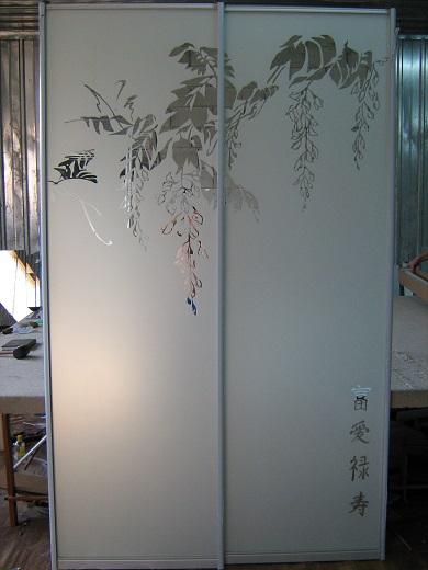 шкафы-купе с пескоструем (фото 21)