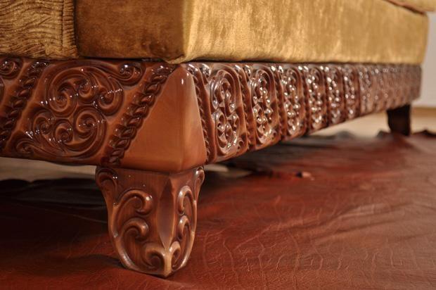 """Деревянный декор дивана """"Вавилон"""""""