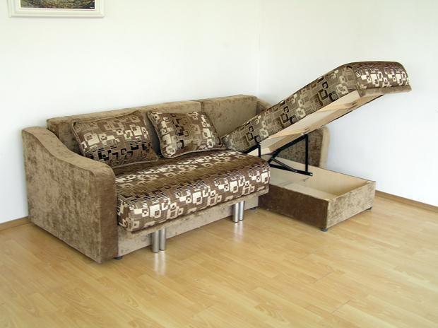 """Угловой диван """"Монако"""": ящик для белья"""