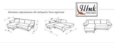 """Схема углового дивана """"Монтана"""""""