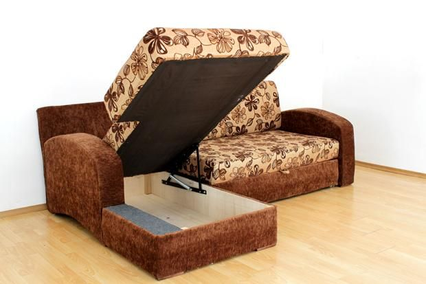 """Угловой диван """"Аризона"""": ящик для белья"""